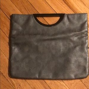 Pre-owned Style & Co. Silver/Gray Clutch